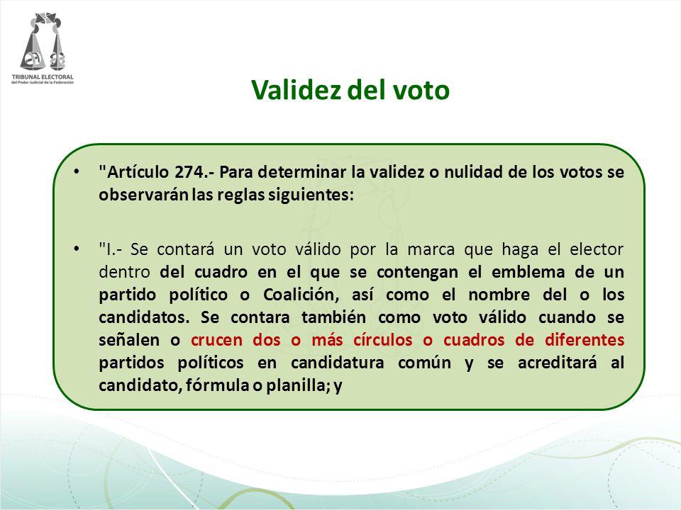 Validez del voto