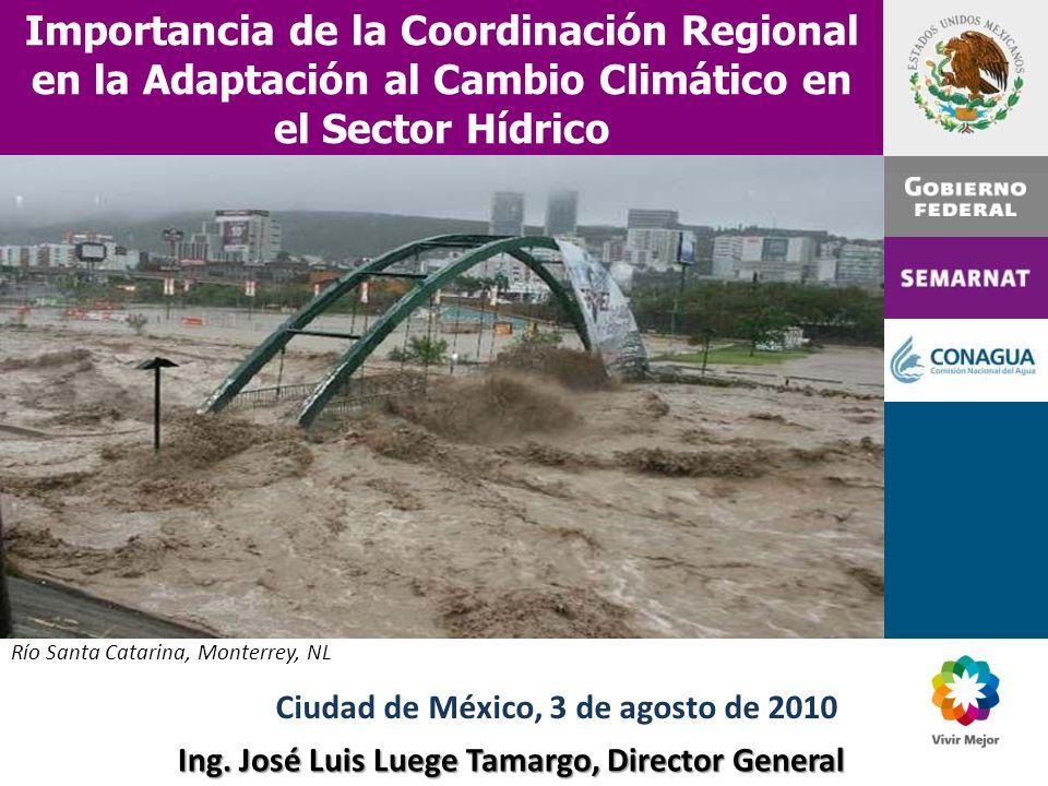 Importancia de la Coordinación Regional en la Adaptación al Cambio Climático en el Sector Hídrico Ing.