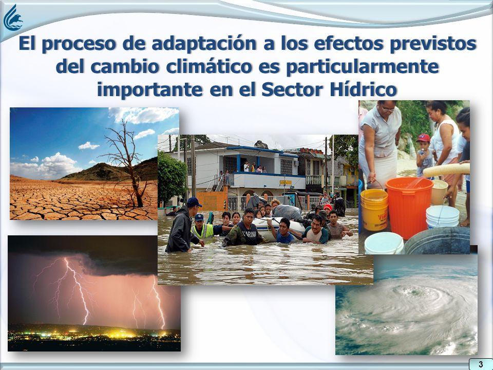 3 El proceso de adaptación a los efectos previstos del cambio climático es particularmente importante en el Sector Hídrico 3