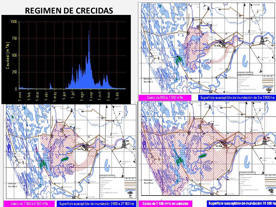 REGIMEN DE CRECIDAS
