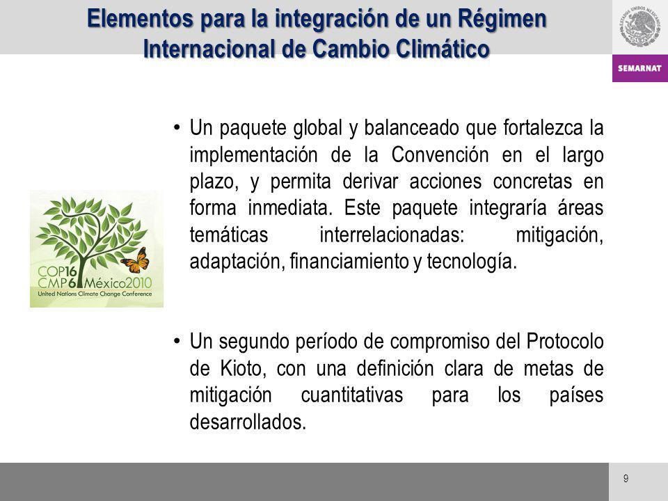 9 Un paquete global y balanceado que fortalezca la implementación de la Convención en el largo plazo, y permita derivar acciones concretas en forma in