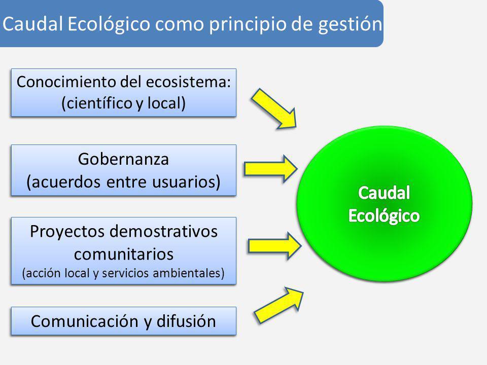 Caudal Ecológico como principio de gestión
