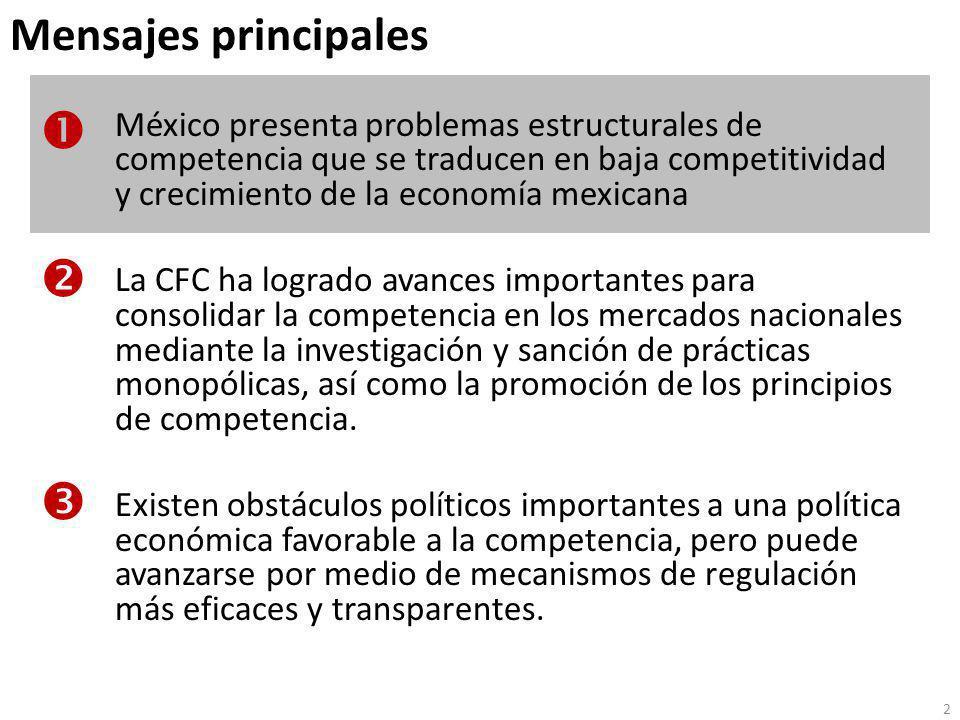 La crisis ha hecho evidente un problema estructural de bajo crecimiento de la economía mexicana … Notas: Valores estimados para 2007 y 2008.