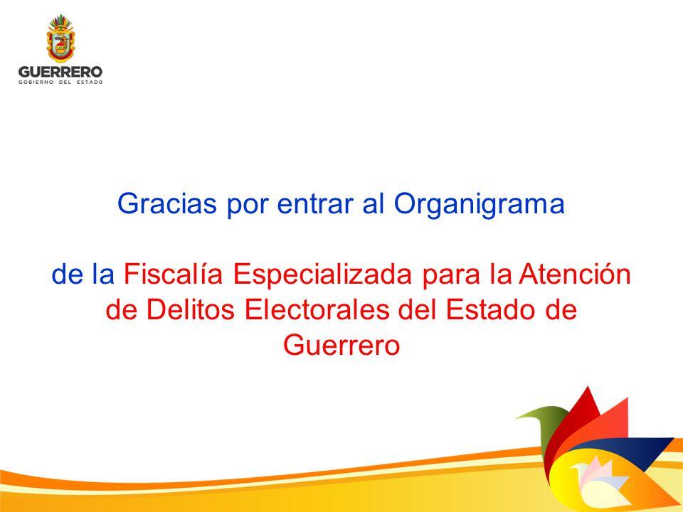 Gracias por entrar al Organigrama de la Fiscalía Especializada para la Atención de Delitos Electorales del Estado de Guerrero