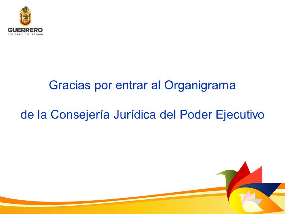 Gracias por entrar al Organigrama de la Consejería Jurídica del Poder Ejecutivo