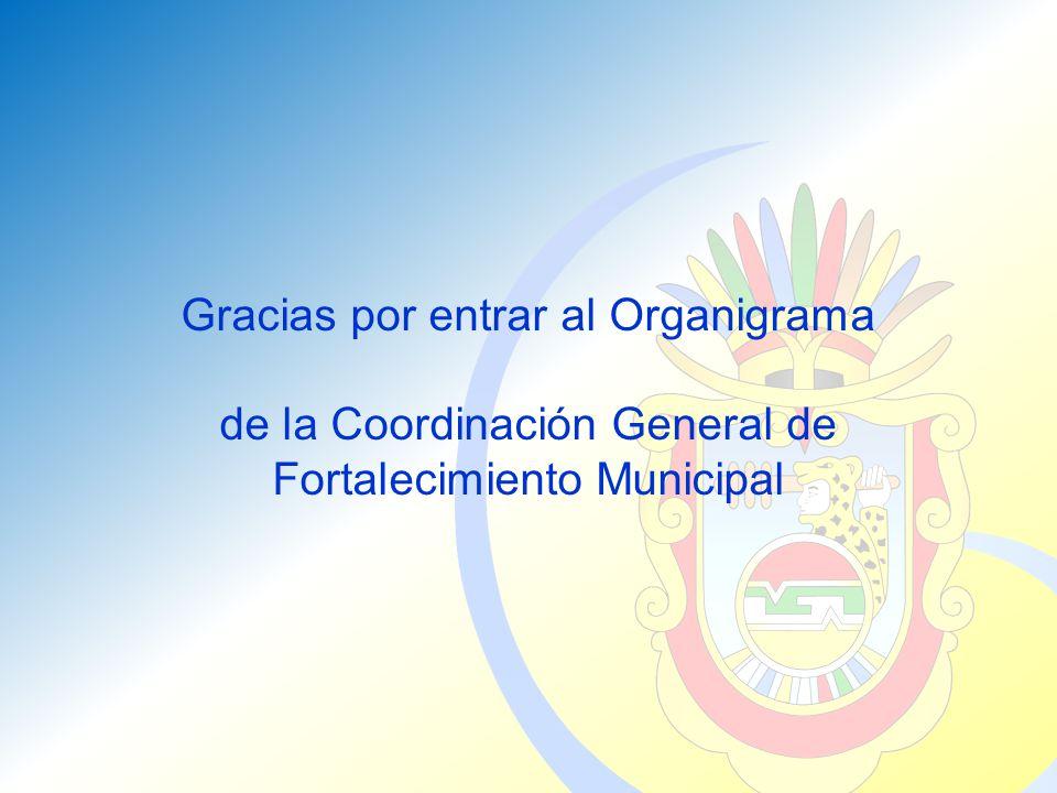 Gracias por entrar al Organigrama de la Coordinación General de Fortalecimiento Municipal