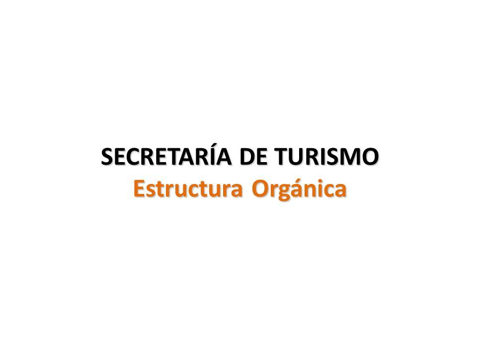 SECRETARÍA DE TURISMO Estructura Orgánica