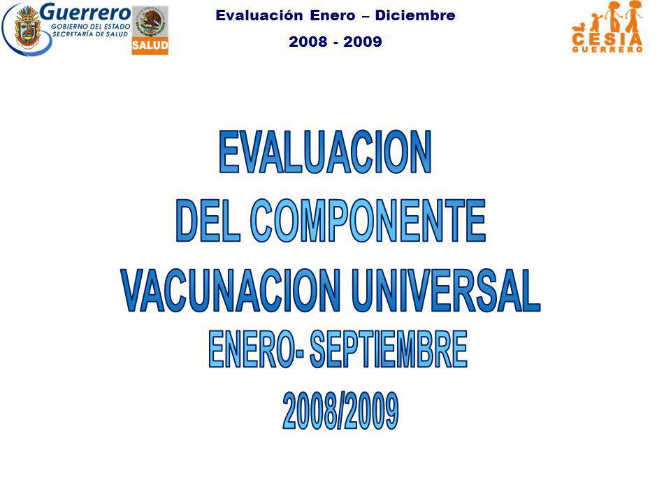 Evaluación Enero – Diciembre 2008 - 2009