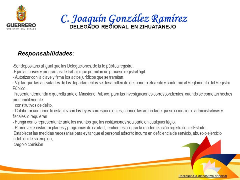 Gracias por entrar al Organigrama de la Dirección General del Registro Público de la Propiedad y del Comercio