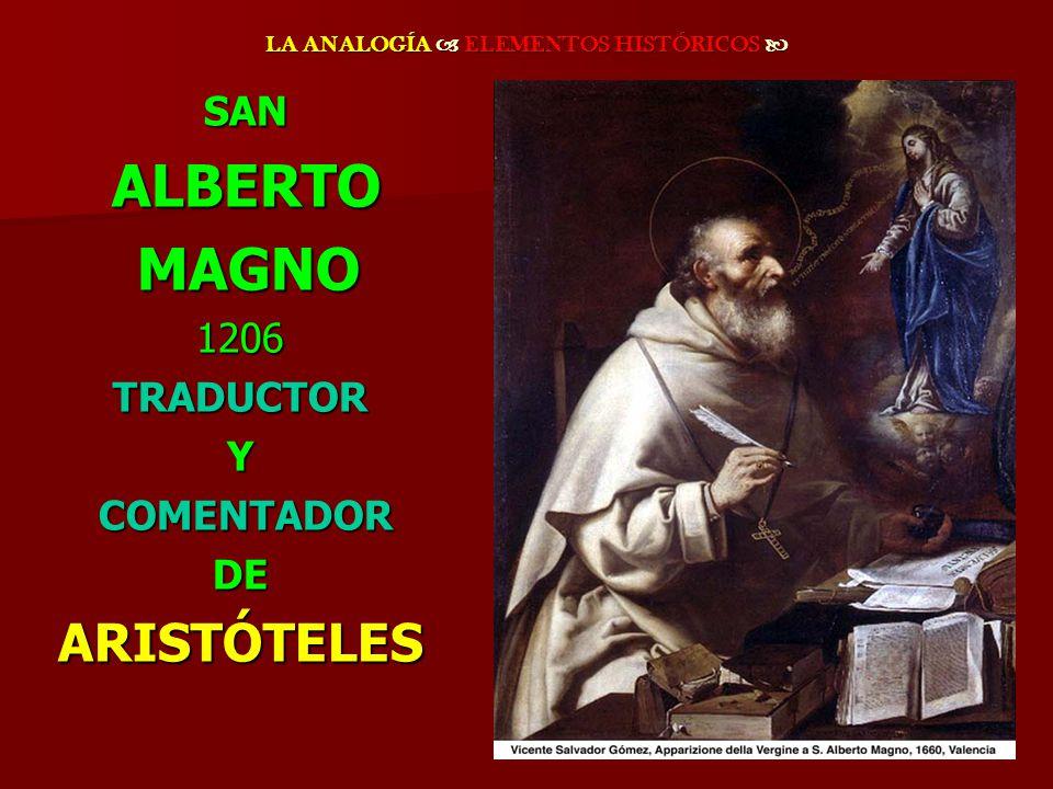 SAN SAN ALBERTO ALBERTO MAGNO MAGNO1206TRADUCTORY COMENTADOR COMENTADORDEARISTÓTELES