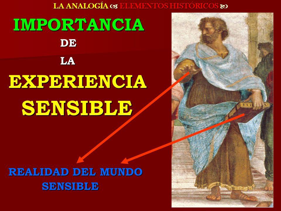 LA ANALOGÍA ELEMENTOS HISTÓRICOS LA ANALOGÍA ELEMENTOS HISTÓRICOS LA METÁFORA FORMA PARTE DEL LENGUAJE FILOSÓFICO Y COLOQUIAL DESDE PLATÓN HASTA HOY, RESPONDE A UN INTENTO DE DAR PRESENCIA FORMA PARTE DEL LENGUAJE FILOSÓFICO Y COLOQUIAL DESDE PLATÓN HASTA HOY, RESPONDE A UN INTENTO DE DAR PRESENCIA SENSIBLE SENSIBLE A LA IDEA PARA MEJORAR Y HACER MÁS VIVA LA PERCEPCIÓN INTELECTUAL A LA IDEA PARA MEJORAR Y HACER MÁS VIVA LA PERCEPCIÓN INTELECTUAL