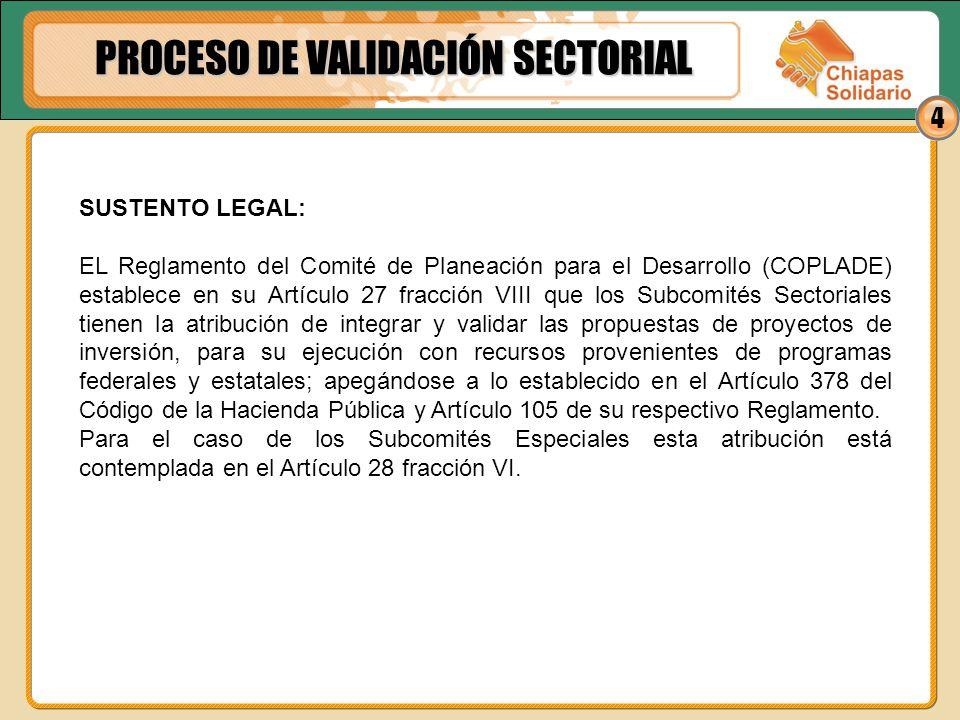 4 SUSTENTO LEGAL: EL Reglamento del Comité de Planeación para el Desarrollo (COPLADE) establece en su Artículo 27 fracción VIII que los Subcomités Sec