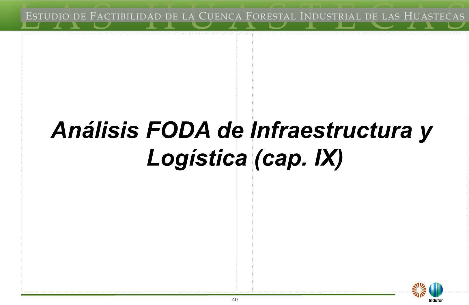 40 Análisis FODA de Infraestructura y Logística (cap. IX)