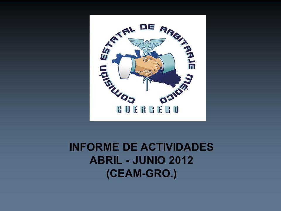 INFORME DE ACTIVIDADES ABRIL - JUNIO 2012 (CEAM-GRO.)