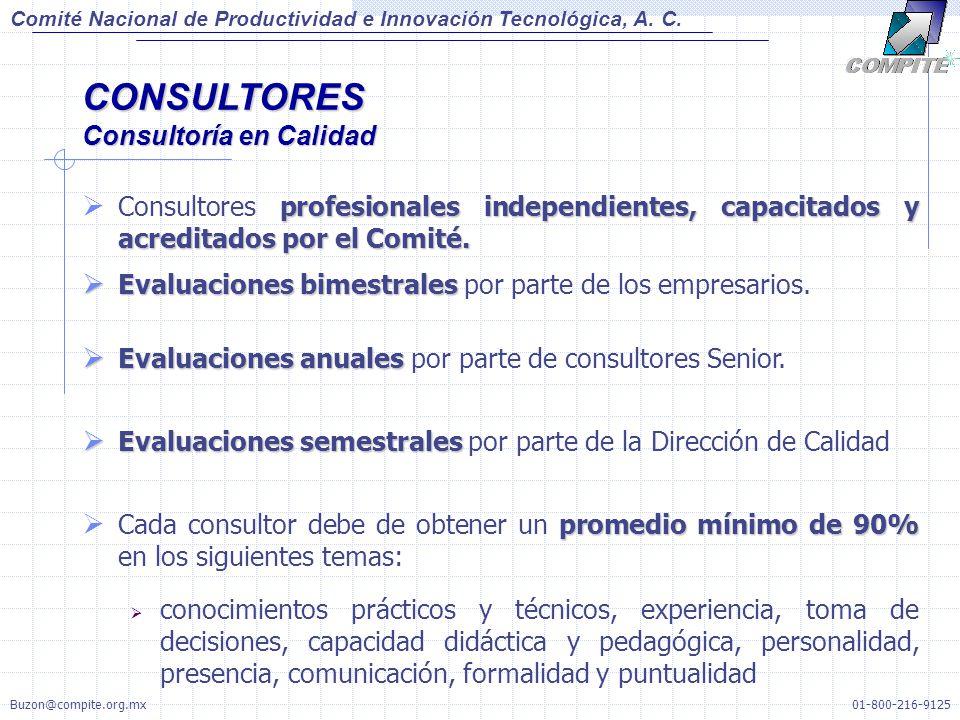 profesionales independientes, capacitados y acreditados por el Comité. Consultores profesionales independientes, capacitados y acreditados por el Comi