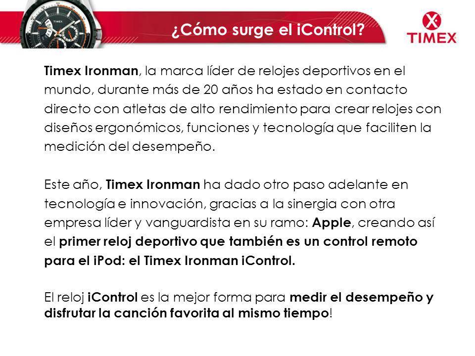 Timex Ironman, la marca líder de relojes deportivos en el mundo, durante más de 20 años ha estado en contacto directo con atletas de alto rendimiento