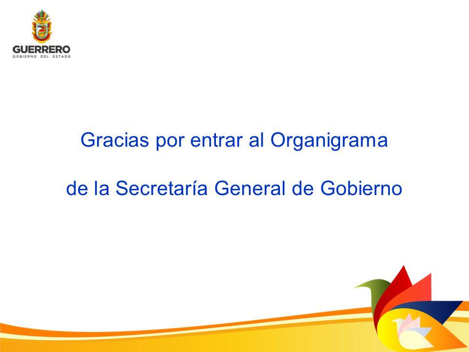 Gracias por entrar al Organigrama de la Secretaría General de Gobierno