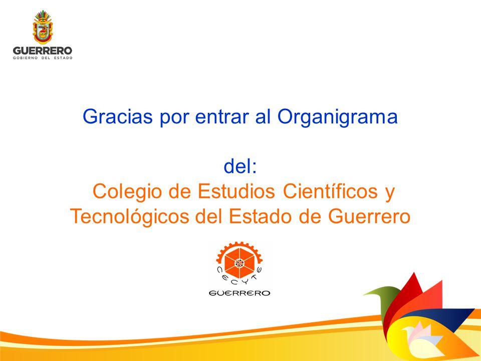 Gracias por entrar al Organigrama del: Colegio de Estudios Científicos y Tecnológicos del Estado de Guerrero