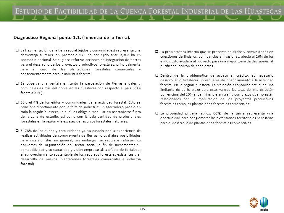 415 Diagnostico Regional punto 1.1. (Tenencia de la Tierra).