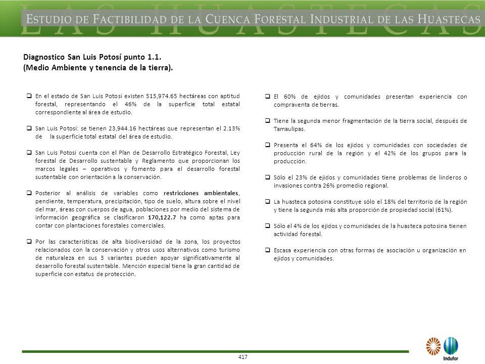 417 Diagnostico San Luis Potosí punto 1.1. (Medio Ambiente y tenencia de la tierra).