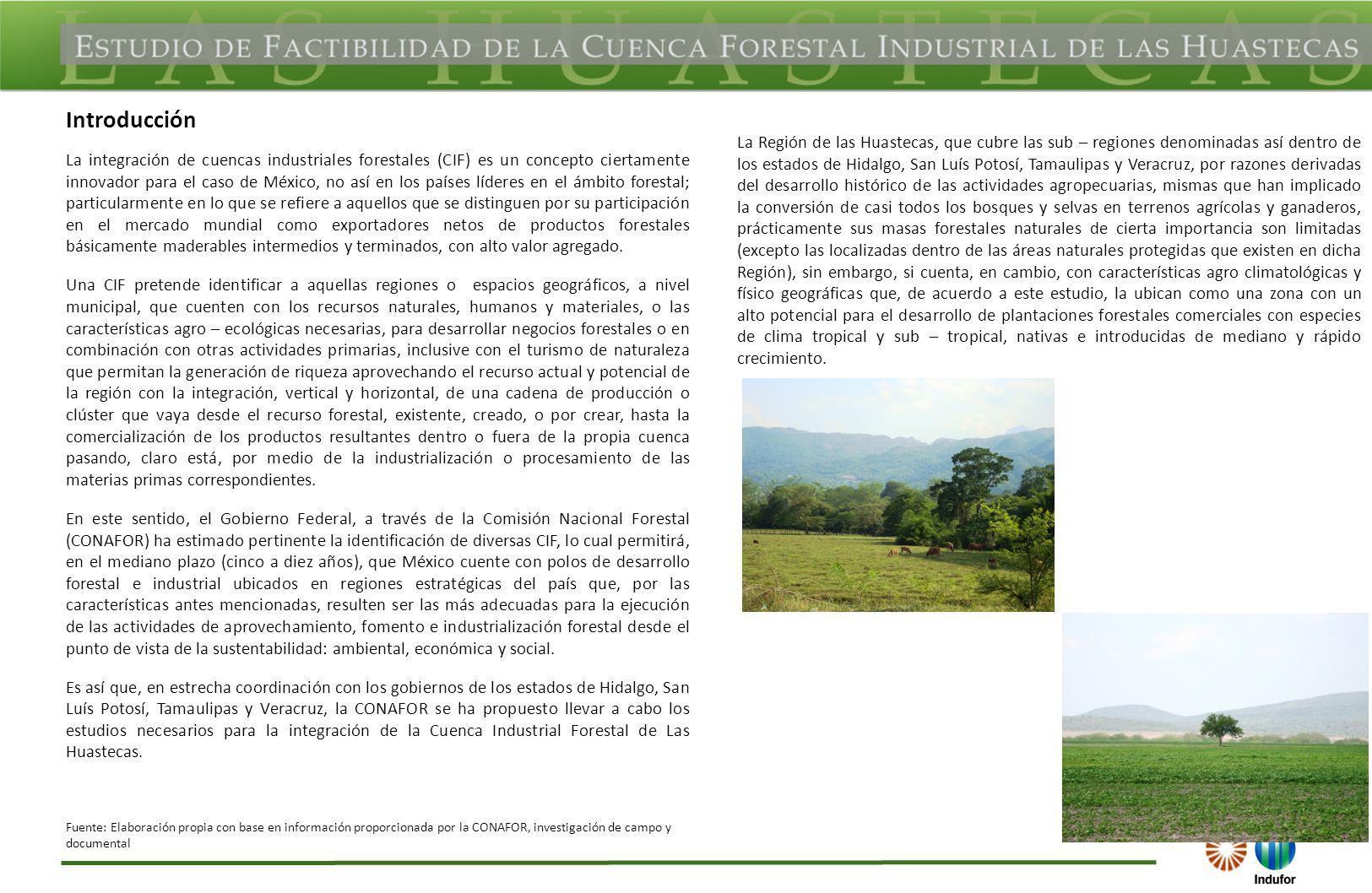 La integración de cuencas industriales forestales (CIF) es un concepto ciertamente innovador para el caso de México, no así en los países líderes en e