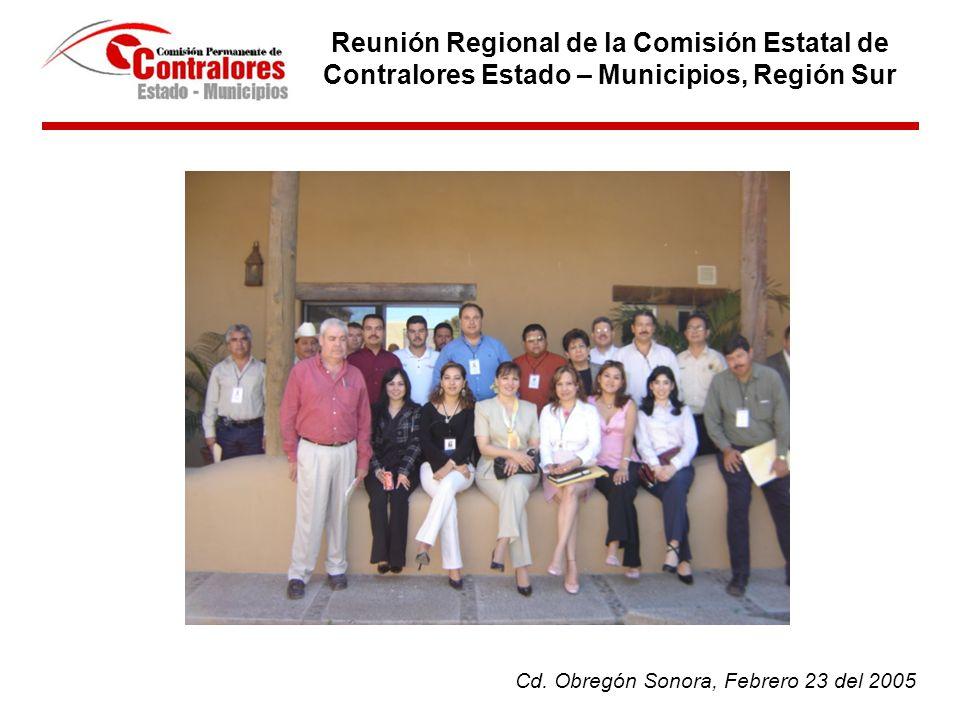Reunión Regional de la Comisión Estatal de Contralores Estado – Municipios, Región Sur Cd.