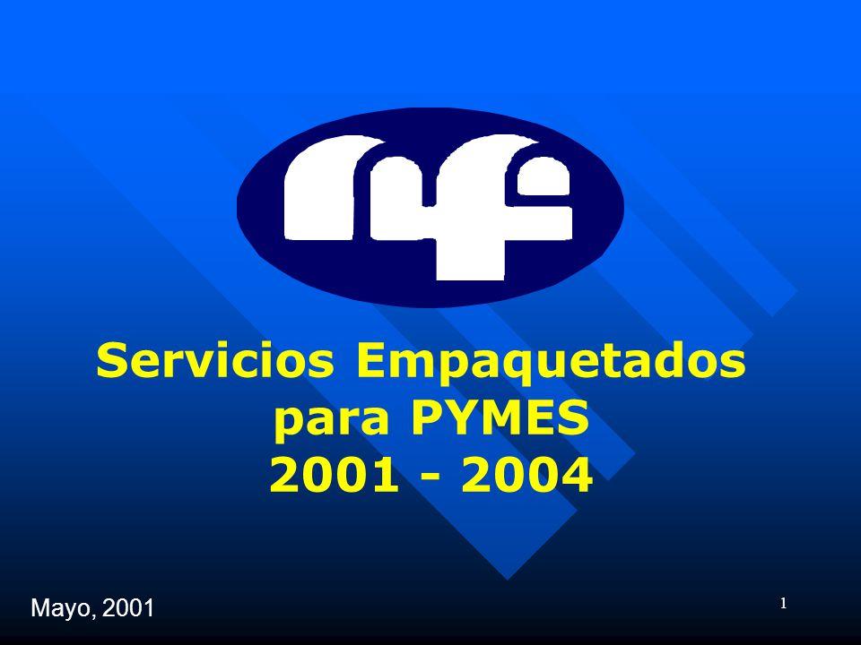1 Servicios Empaquetados para PYMES 2001 - 2004 Mayo, 2001