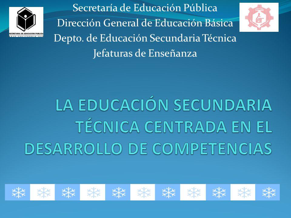 Secretaría de Educación Pública Dirección General de Educación Básica Depto.