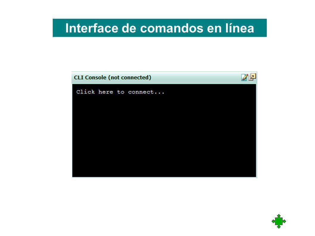 Interface de comandos en línea