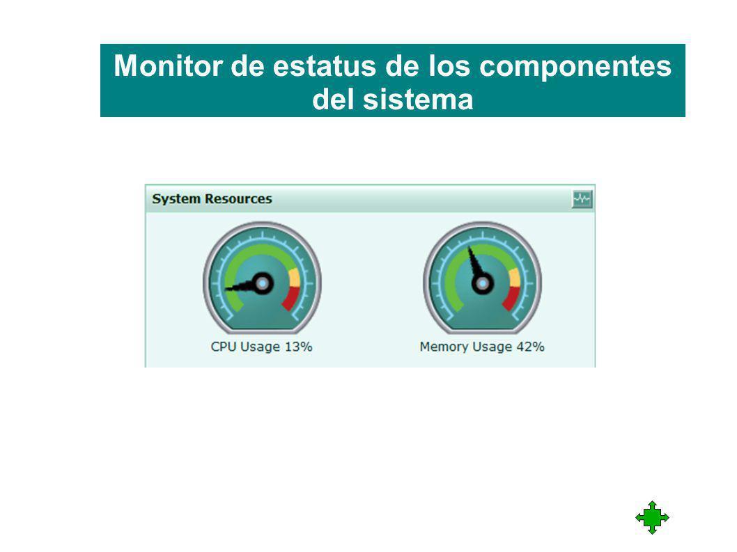 Monitor de estatus de los componentes del sistema