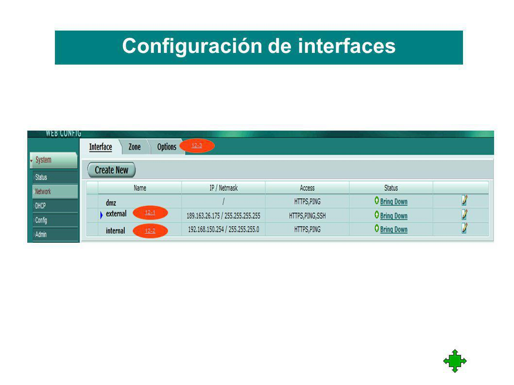 Configuración de interfaces 12-1 12-2 12-3