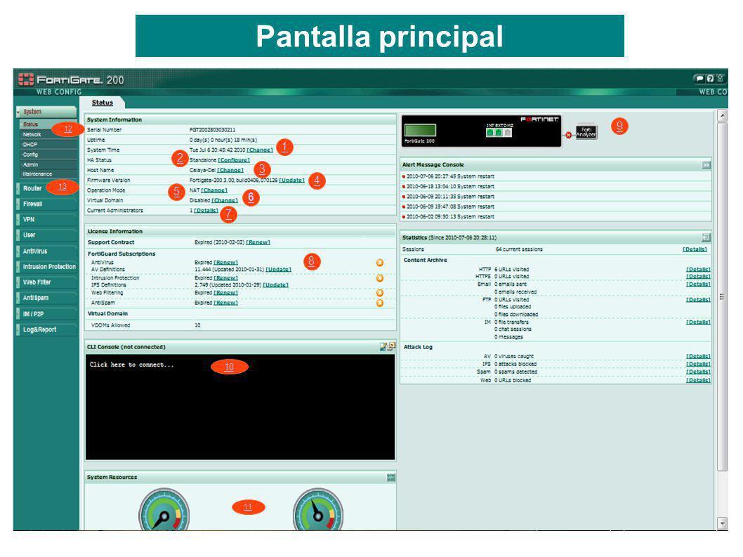 1 2 3 4 5 6 7 8 9 10 11 Pantalla principal 12 13