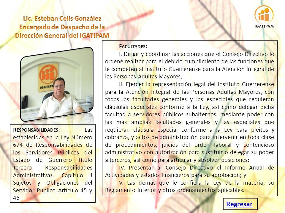 Regresar F ACULTADES : I. Dirigir y coordinar las acciones que el Consejo Directivo le ordene realizar para el debido cumplimiento de las funciones qu