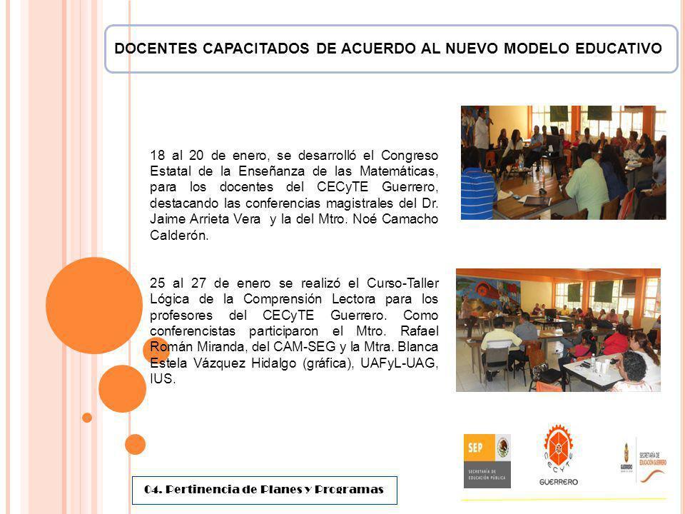 DOCENTES CAPACITADOS DE ACUERDO AL NUEVO MODELO EDUCATIVO 18 al 20 de enero, se desarrolló el Congreso Estatal de la Enseñanza de las Matemáticas, par