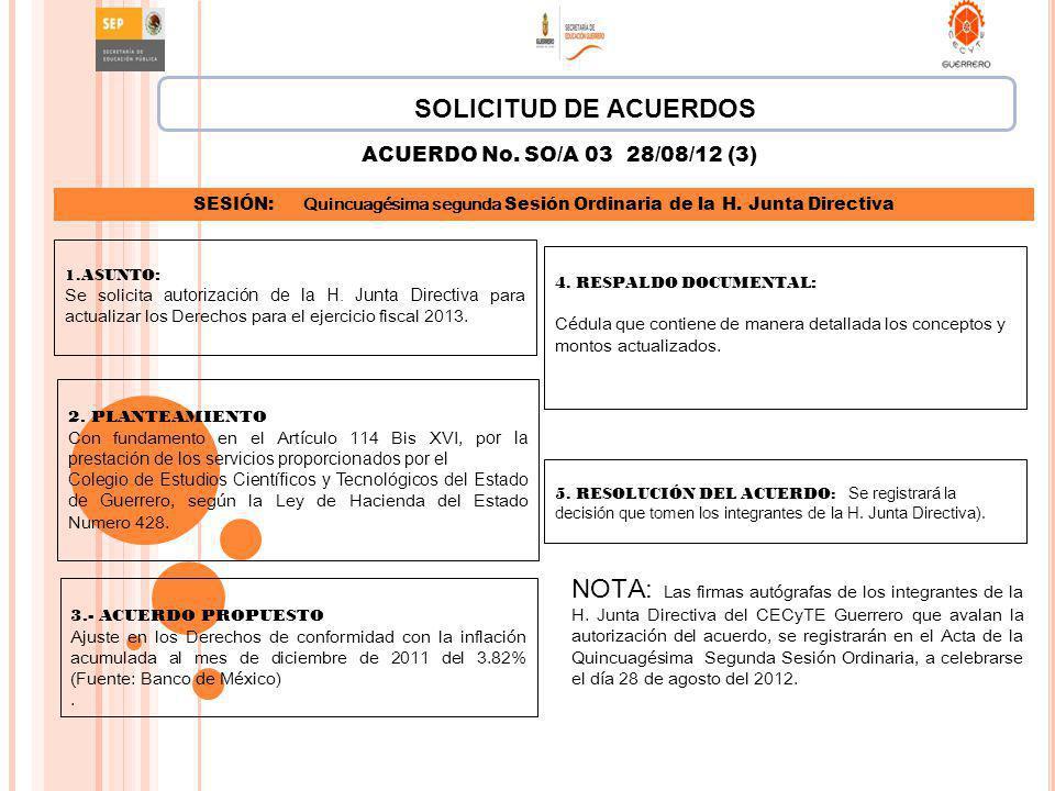 4. RESPALDO DOCUMENTAL : Cédula que contiene de manera detallada los conceptos y montos actualizados. 5. RESOLUCIÓN DEL ACUERDO: Se registrará la deci