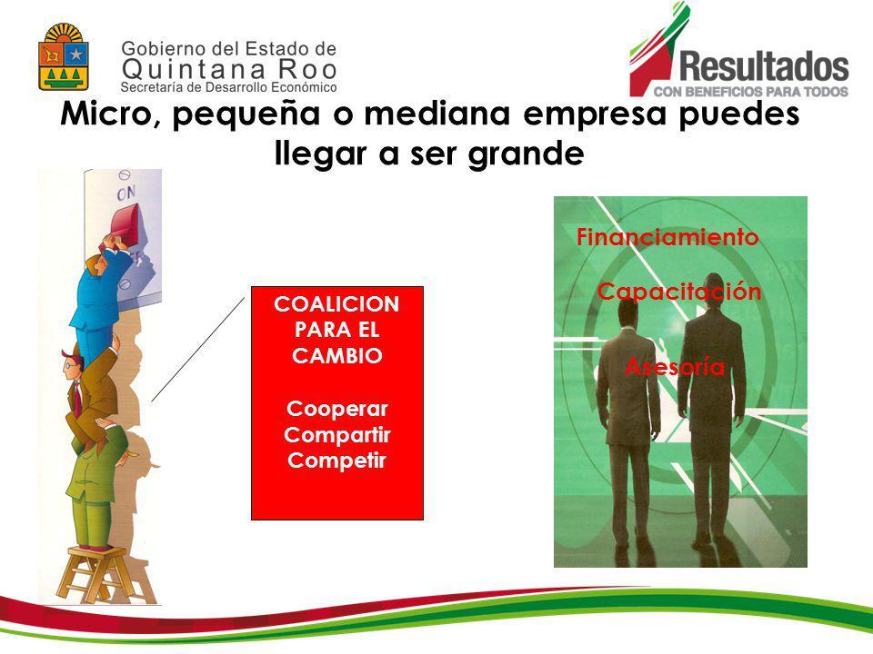 INVESTIGACIÓN, CAPACITACIÓN Y ASESORÍA TÉCNICA CCE, COMPITE, CANACO GUBERNAMENTALES SE Y SEDE INSTITUCIONES DE APOYO FUERTE MEDIO DEBIL NO EXISTE CLAVE SECTOR ACADÉMICO TECNOLOGÍA FINANCIAMIENTO INFRAESTRUCTURA INNOVACIÓN MODERNIZACIÓN RECURSOS HUMANOS CAPACITACIÓN ACTUALIZACIÓN I Y D CARRETERA AEROPORTUARIA CAPITAL MAQUINARIA Y EQUIPO MERCADOTECNIA ESTUDIOS DE MERCADO EXPLORACIÓN DE MERCADOS PROPOGANDA, PUBLICIDAD Franquicias PEMEX Agencias Aduanales Transporte de materias primas Fabricas-Industrias (Empresas de valor Agregado) Sub 431 Transporte de productos terminados Mantenimiento y Equipo de transporte Materias primas para suministro Grandes mayoristas Del subsector 431 Medios mayoristas Del subsector 431 Detallistas Del subsector 431 Consumidor final Hoteles Restaurantes Refaccionarias Agencias Aduanales Transporte de productos terminados Agencias Aduanales Bodegas Aseguradoras de autos Bodegas Centro de capacitación Transporte de productos terminados Franquicias PEMEX Refaccionarias Aseguradoras de autos Mantenimiento y Equipo de transporte Modernización de locales A los detallistas Despachos de consultoría CAP´s distribuidores Publicidad Intercambio electrónico de datos Precios razonables a detallistas para crecer y competir PROPUESTA DE CLUSTERS PARA EL SECTOR COMERCIO AL POR MAYOR DE CHETUMAL FUENTE: FEQROO, 2004 FUENTE: SECRETARÍA DE DESARROLLO ECONÓMICO.