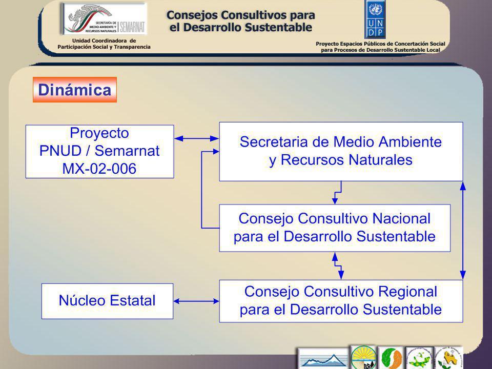 Unidad Coordinadora de Participación Social y Transparencia Secretaría de Medio Ambiente y Recursos Naturales CCNDS -Grupo Operativo Proyecto PNUD/ Semarnat MEX-02-006 Espacios Públicos de Concertación Social para Procesos de Desarrollo Sustentable Local (2002-2006) Sup.