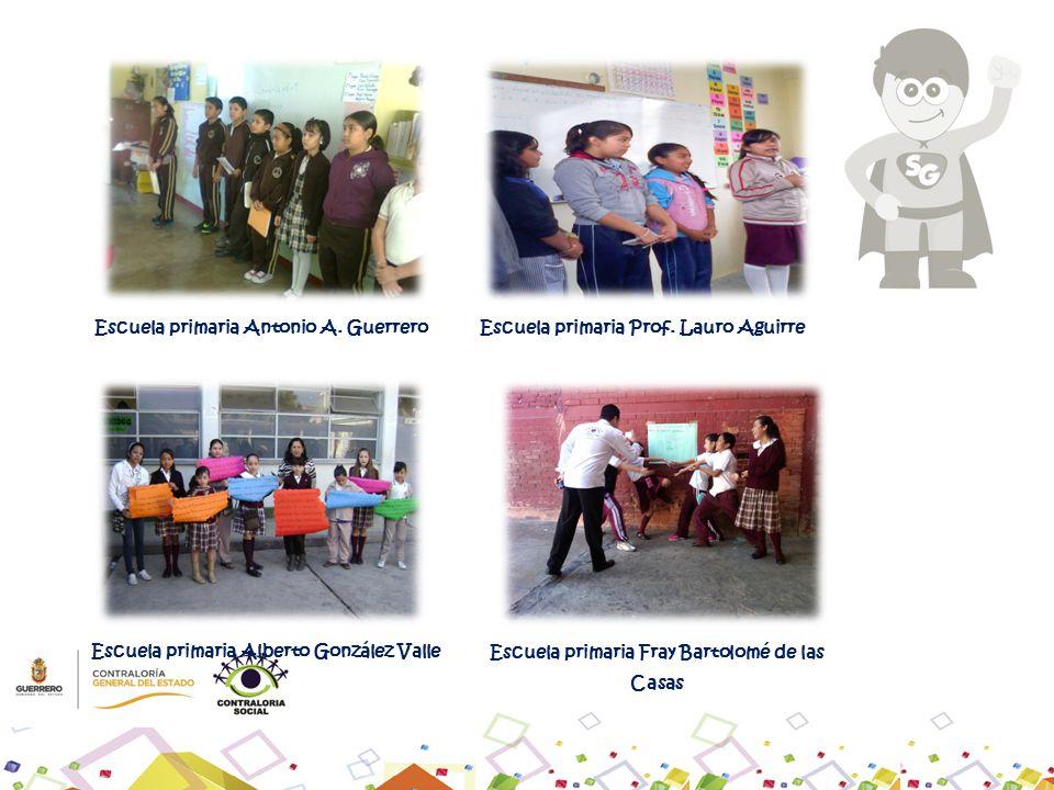 Escuela primaria Antonio A. GuerreroEscuela primaria Prof. Lauro Aguirre Escuela primaria Fray Bartolomé de las Casas Escuela primaria Alberto Gonzále