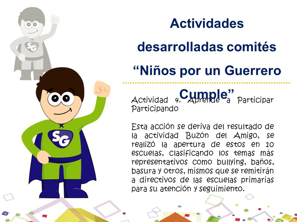 Actividad 4. Aprende a Participar Participando Esta acción se deriva del resultado de la actividad Buzón del Amigo, se realizó la apertura de estos en
