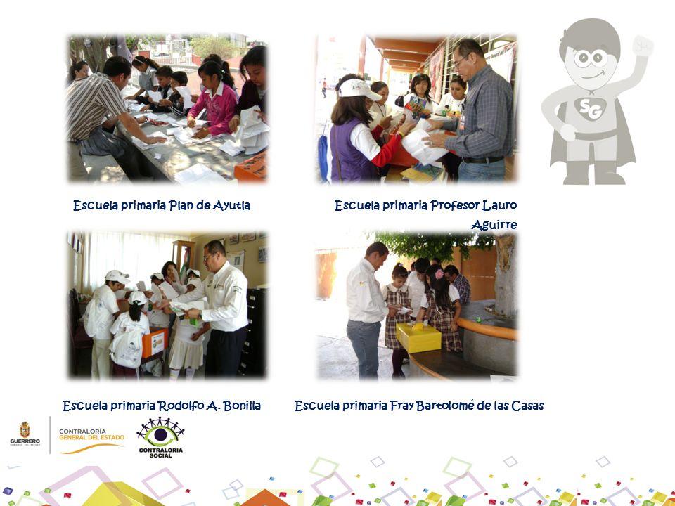 Escuela primaria Plan de AyutlaEscuela primaria Profesor Lauro Aguirre Escuela primaria Rodolfo A. BonillaEscuela primaria Fray Bartolomé de las Casas