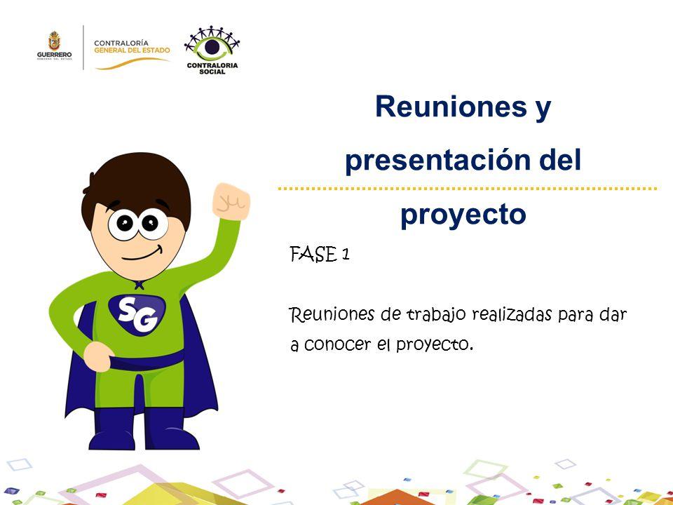 Reuniones y presentación del proyecto FASE 1 Reuniones de trabajo realizadas para dar a conocer el proyecto.