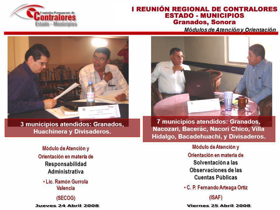 Módulos de Atención y Orientación Módulo de Atención y Orientación en materia de Responsabilidad Administrativa Lic. Ramón Gurrola Valencia Lic. Ramón