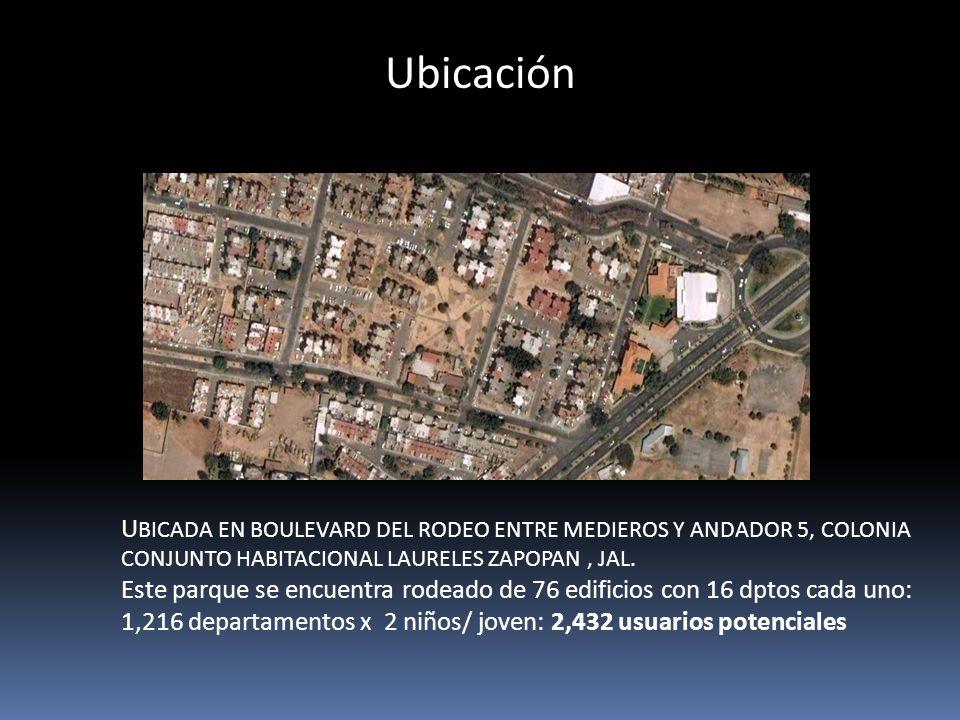 Ubicación U BICADA EN BOULEVARD DEL RODEO ENTRE MEDIEROS Y ANDADOR 5, COLONIA CONJUNTO HABITACIONAL LAURELES ZAPOPAN, JAL.