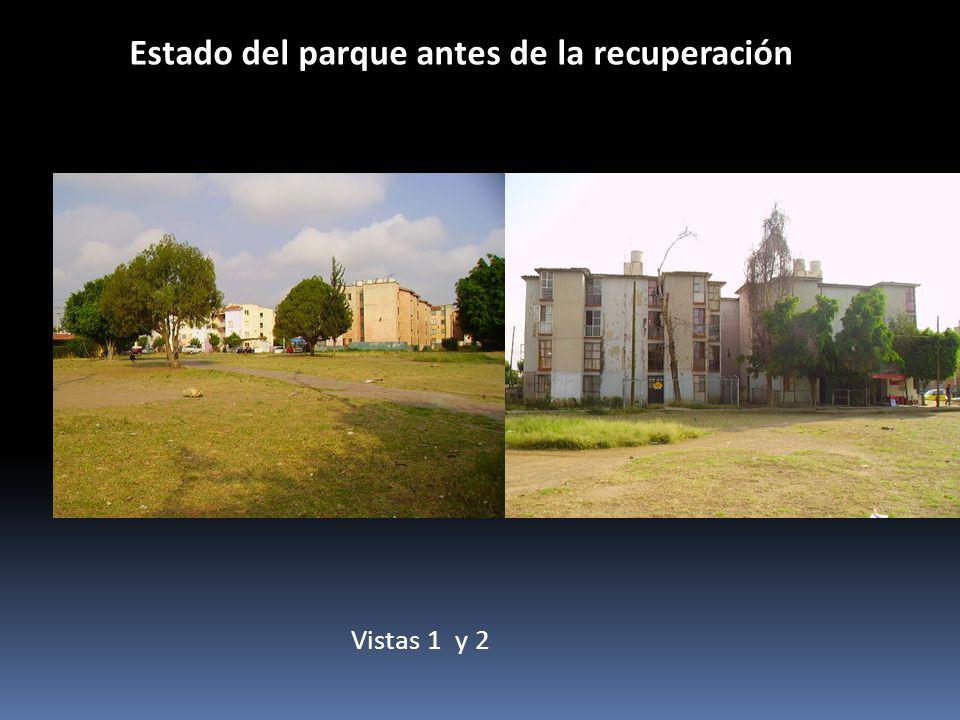 Estado del parque antes de la recuperación Vistas 1 y 2