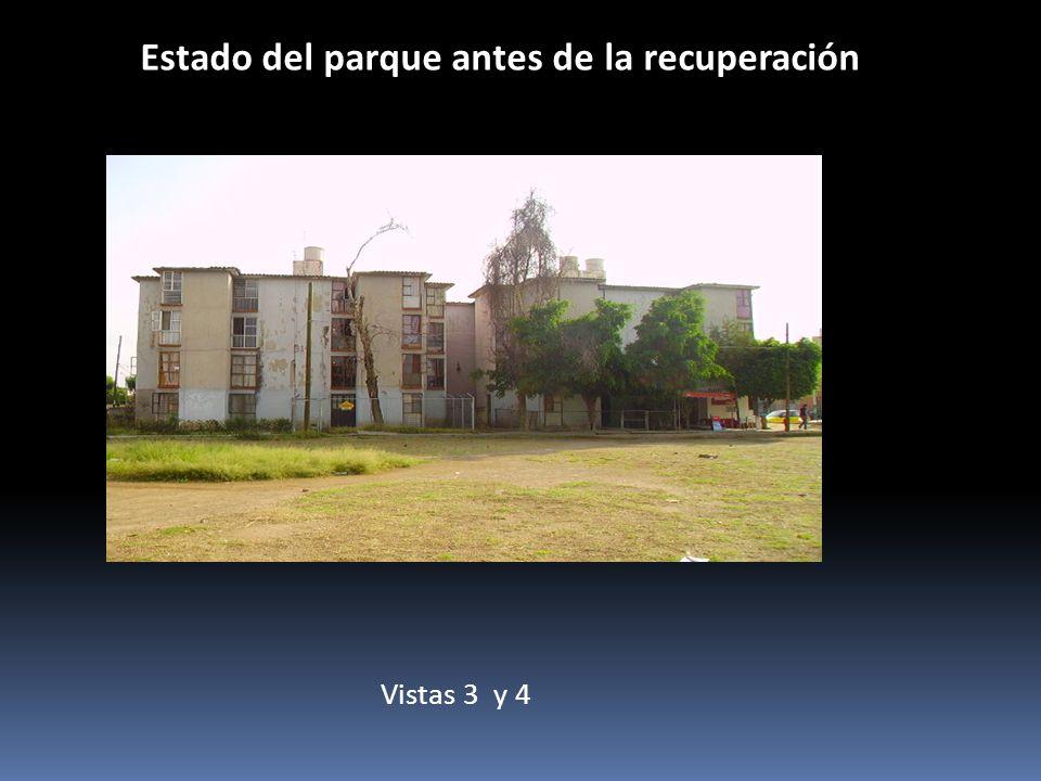 Estado del parque antes de la recuperación Vistas 3 y 4