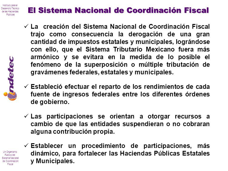 Instituto para el Desarrollo Técnico de las Haciendas Públicas Un Organismo Público del Sistema Nacional de Coordinación Fiscal La creación del Sistem
