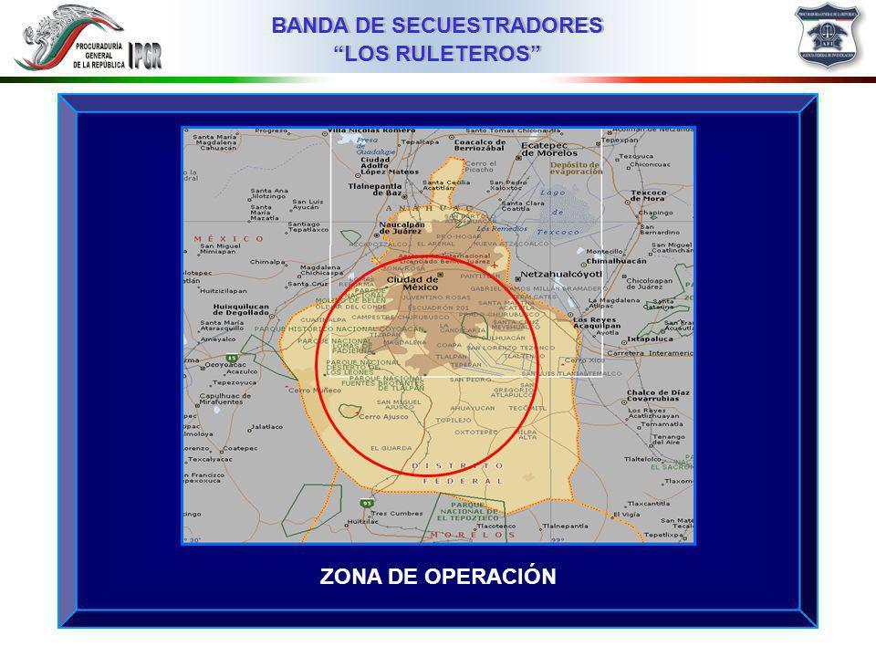 03MMIII BANDA DE SECUESTRADORES LOS RULETEROS ZONA DE OPERACIÓN