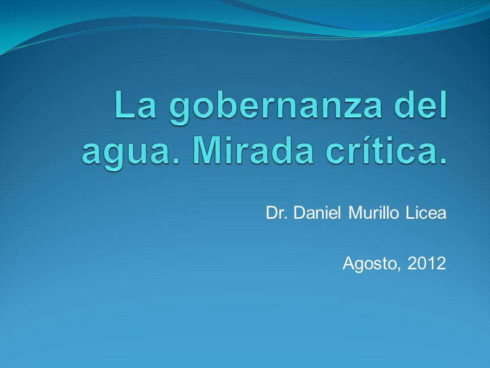 Gobernanza del agua Modelo de Gobernanza Adaptativa (John T.
