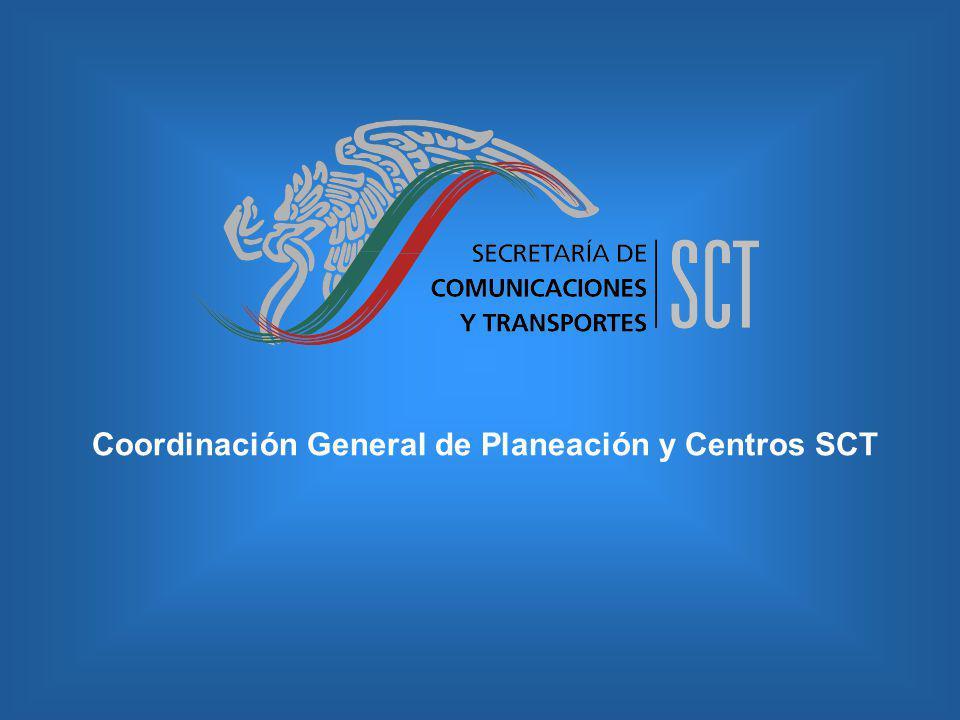 Coordinación General de Planeación y Centros SCT