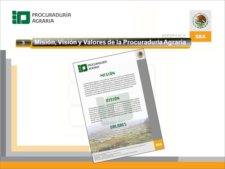 Misión, Visión y Valores de la Procuraduría Agraria 3 3